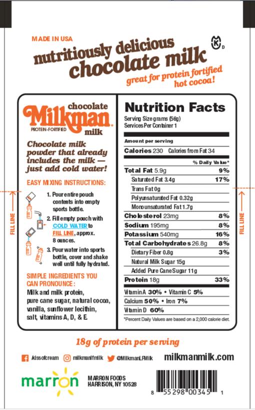 Powder milk packet